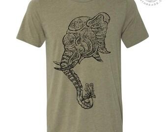 Men's ELEPHANT 2 T Shirt s m l xl xxl (+ Color Options) hand screen printed custom no trophies
