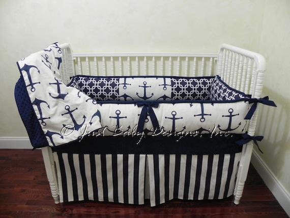 Custom Nautical Baby Bedding Set Harbor Boy Baby Bedding
