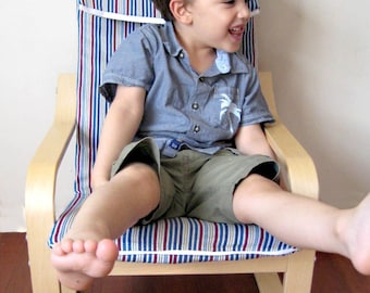 ReCover for IKEA Poang Childrens Armchair - Maritime Stripes
