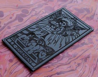 Leather JUDGEMENT Tarot Patch / L'jugement / El Juicio / Tarot of Marseilles / Occult