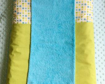 cover changing mat green and blue butterflies