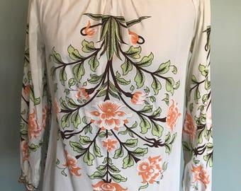 90s Paul&Joe Hawaian print blouse