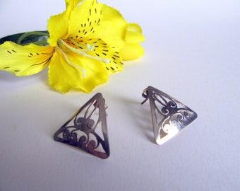 India Silver earrings.