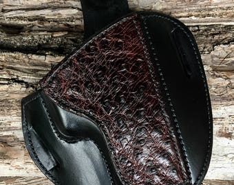 Glock Custom Holster for 17,22,31,etc with Ostrich Quill