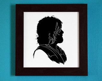 Daryl Dixon - Silhouette Portrait Print
