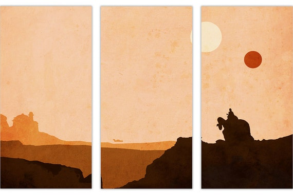 Star Wars Tatooine Canvas Wall Art Pictures Framed Prints Home
