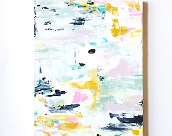 READY to SHiP 18 x 24 Original Painting on Canvas OOAK Abstract Art Modern Art Office wall decor Kids room decor Nursery decor Ready to Hang