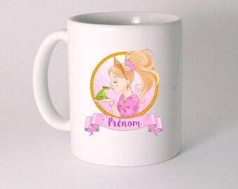 "Personalized ""Princess and frog"" ceramic MUG"