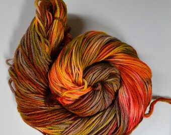 Aubs Worsted, hand dyed yarn, handdyed yarn, hand dyed worsted yarn, hand painted yarn, worsted yarn, worsted weight, A Walk In The Woods