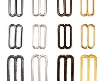 "Solid Brass Tri Glides 3 Bar Adjusters 1"" ( 25mm ) 1.2"" ( 30mm ) 1.5"" ( 38mm )"