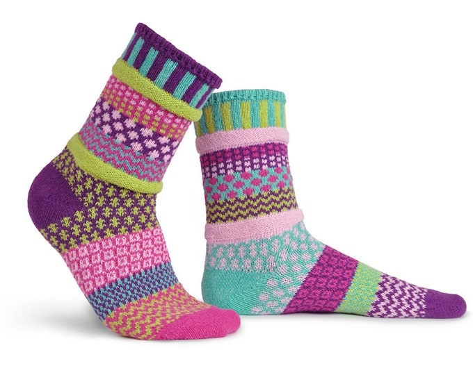 Solmate Socks - Dahlia Crew - Adult LARGE