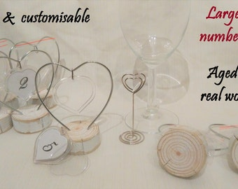 Corazón grande tabla personalizable número titulares tarjeta del lugar boda decoración de la tabla