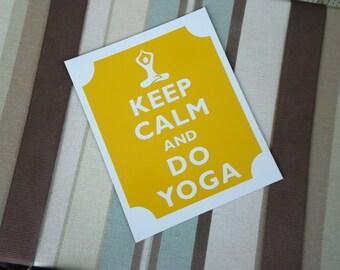 Keep calm do yoga magnet