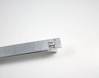 Llama Tie Bar - Llama Tie Clip - Hidden Message - Tie Bar - Tie Clip - Gift for Him - Alpaca Tie Bar - Alpaca Tie Clip - Llama Gift