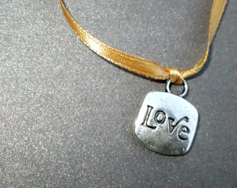 Silver Love / Heart Charms Set of 4