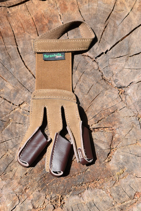 Archery shooting glove, leather archery glove, small shooting glove