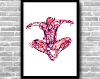 Spiderman Wall Art Spiderman Nursery Spiderman Wall Décor Superhero Wall Décor Kids Room Wall Art Spiderman Gifts Spiderman Room