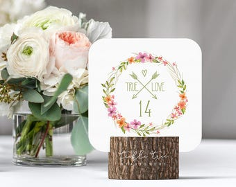 Summer Wild Flower - Table Numbers (Style 13599)