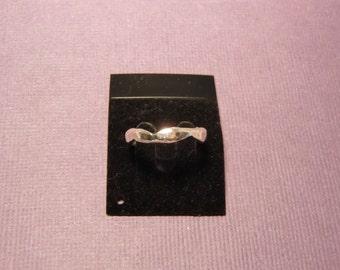 Handmade Sterling Silver Hammered & Shaped Ring - Handmade Zig Zag Ring - Size 6.75