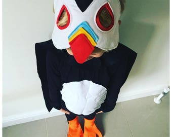 Puffin Costume, Kids Puffin Costume, Adult Puffin Costume, Puffin Rock, Puffin Dress Up, Puffin Fan. Puffin Mask, Cape + Feet Robins Bobbins