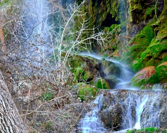 Gorman Falls Waterfall Photo Print