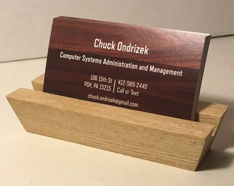 Sassafras Wood Business Card Holder