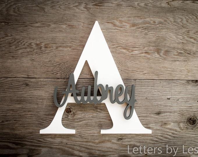 Large - Nursery Decor, Wood Letters, Custom made, Wall hanging sign, Girl Nursery, Boy Nursery