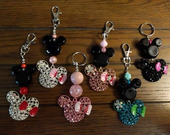 Minnie Mouse themed keychain or bagtag