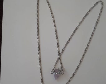 Crown of Horns Amythest Drop Necklace