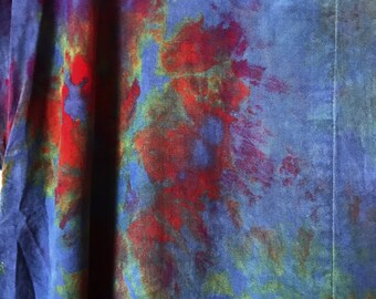 Ready to Ship Hand Dyed Rayon Robe in Night Flower, Anna Joyce, Portland, OR