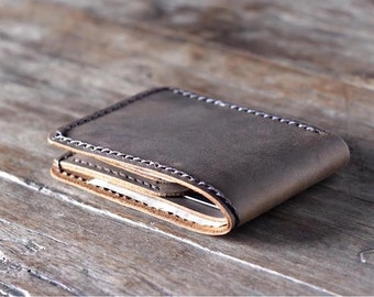 Minimalist Wallet, Gift Ideas for Men, Leather Wallet, Groomsmen Gifts, Gift Ideas for Him, Mens Leather Wallets - Listing # 024R
