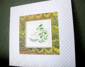 Foliage embroidered cross stitch chart