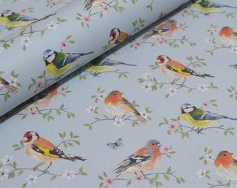 Decorative paper, gift wrap, decoupage paper - Garden Birds