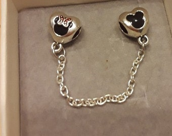 Minnie and Mickey Mouse Connector Charm for Bracelet