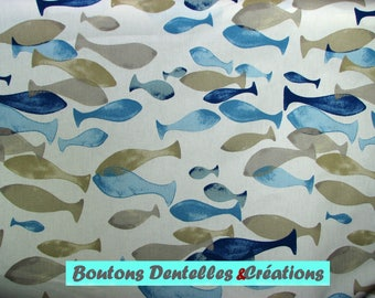 Fabric: Aqua - sea - fish