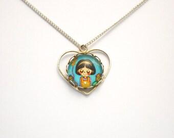 Fairy tale necklace Little girl jewelry Little girl necklace Girls birthday gift Fairy tale jewelry Fairytale necklace Fairytale jewelry