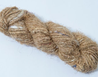 Thin Sari Silk Yarn, Mint from Craftamma on Etsy Studio