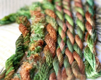 Silk  Embroidery Thread for Needlework, Embroidery, Stumpwork hand dyed in Cradle Mountain