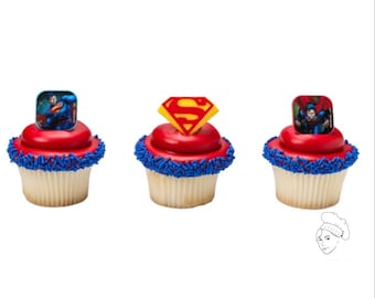 Superman cupcake Etsy