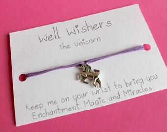 Unicorn Charm Bracelet - Enchantment,Magic and Miracles   Travel, friendship, best friend, bridesmaid, wish bracelet, party, princess,