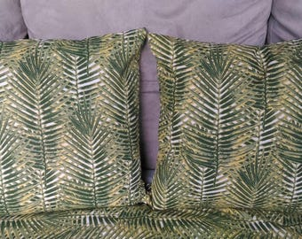 LEAVES PILLOW COVER / TROPICAL IN 40X40CM