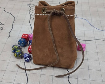 New Buck Leather Dice Bag