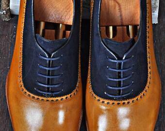 TucciPolo Mono-TB Handmade Special Oxford Italian Leather Mens Dress Shoe