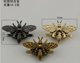 10sets vintage bee Big screw metal Bee  turn twist lock in light gold, metal twist lock, switch lock buckle wholesale  ks-864
