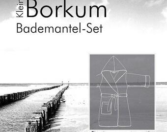 """Farbenmix pattern children bathrobe """"kleinBorkum"""""""
