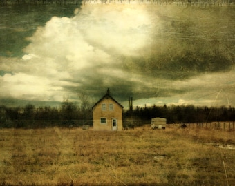 Farm landscape photography home decor, Limited Edition Gallery Wrap 8/100