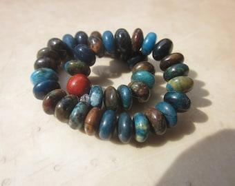 larger dark Chrysocolla (red Jasper) Bracelet