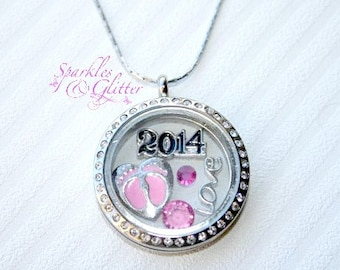 Stainless Steel | Floating Charm | Memory | Love Locket | Necklace | Hand stamped | Personalised | Personalized | Plate