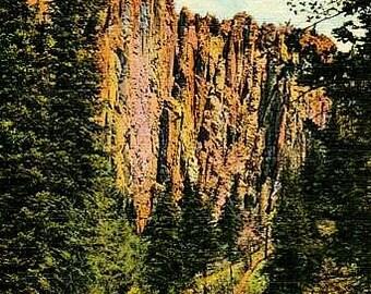 Vintage New Mexico Postcard - Palisades of Cimarron Canyon (Unused)