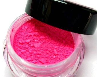 "Bright Pink Shimmer Eye Shadow - Hot Pink - ""COTTON CANDY"" - Free U.S. Shipping - Mineral Makeup - Eyeshadow"